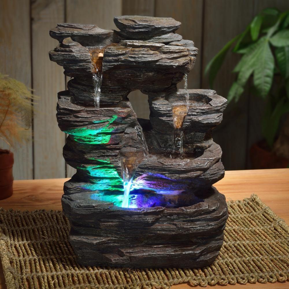 Fontaine Du0027intérieur Pietra éclairages Leds