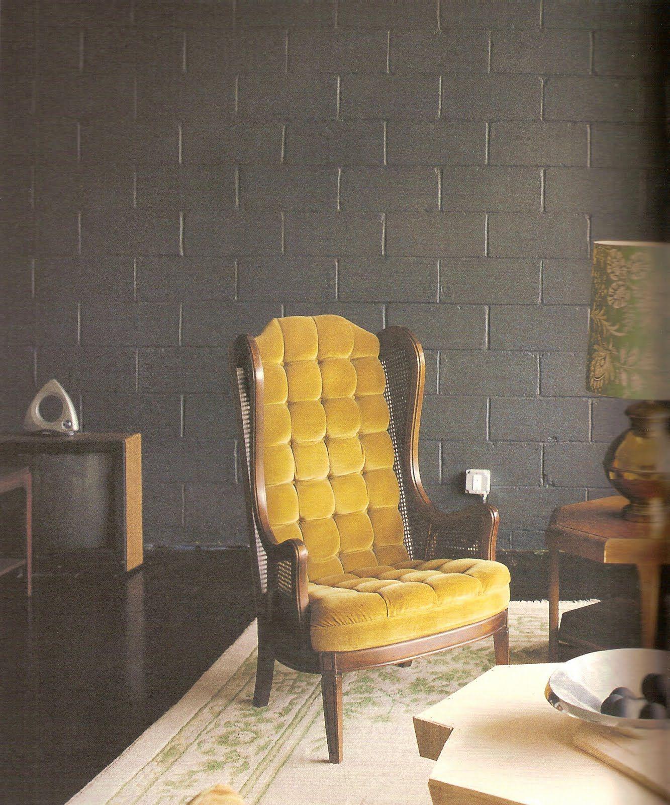 mustard velvet chair via Brooklyn Modern vintage furniture