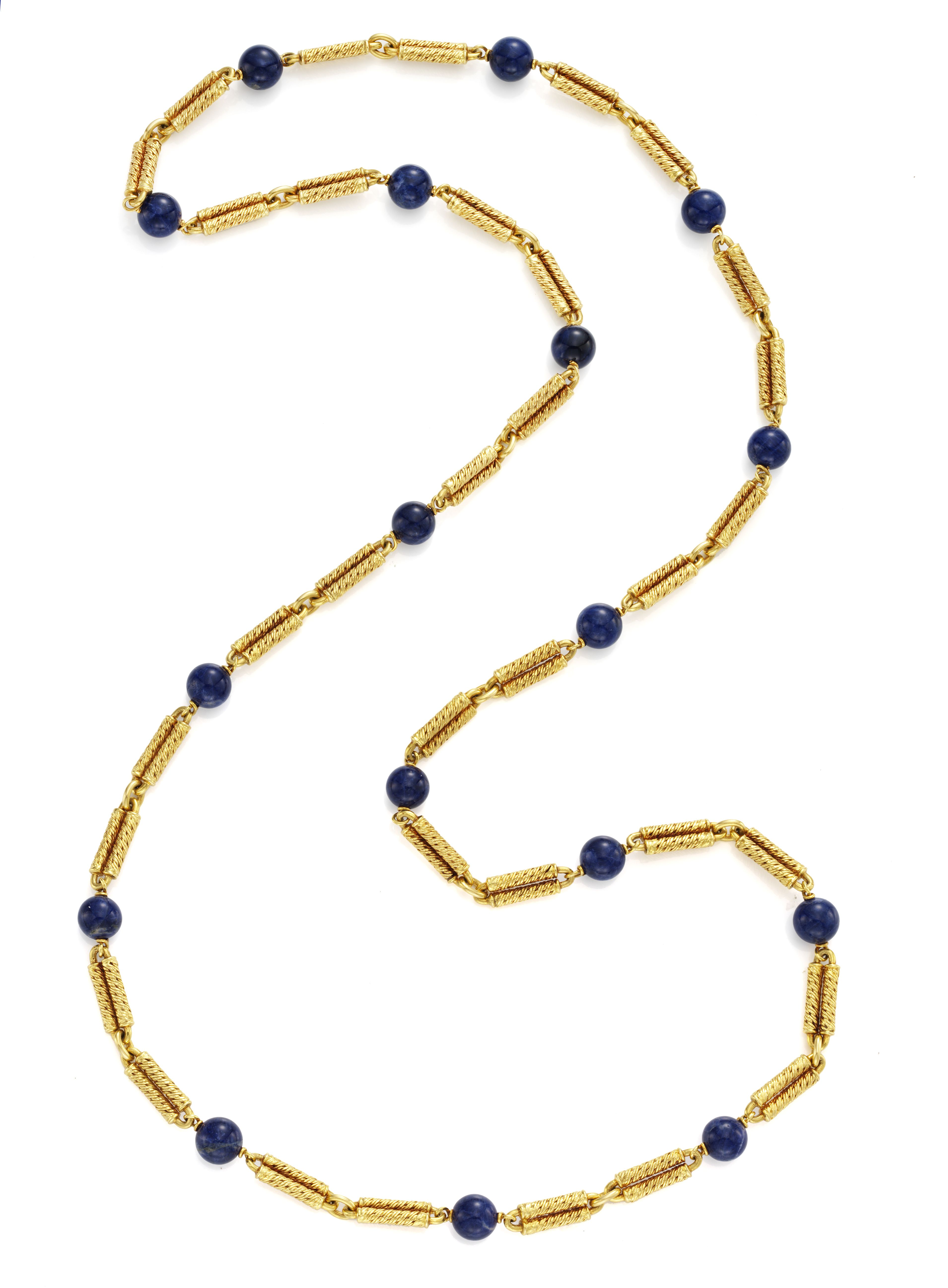 A Gold and Lapis Lazuli Necklace, by Van Cleef & Arpels  Available