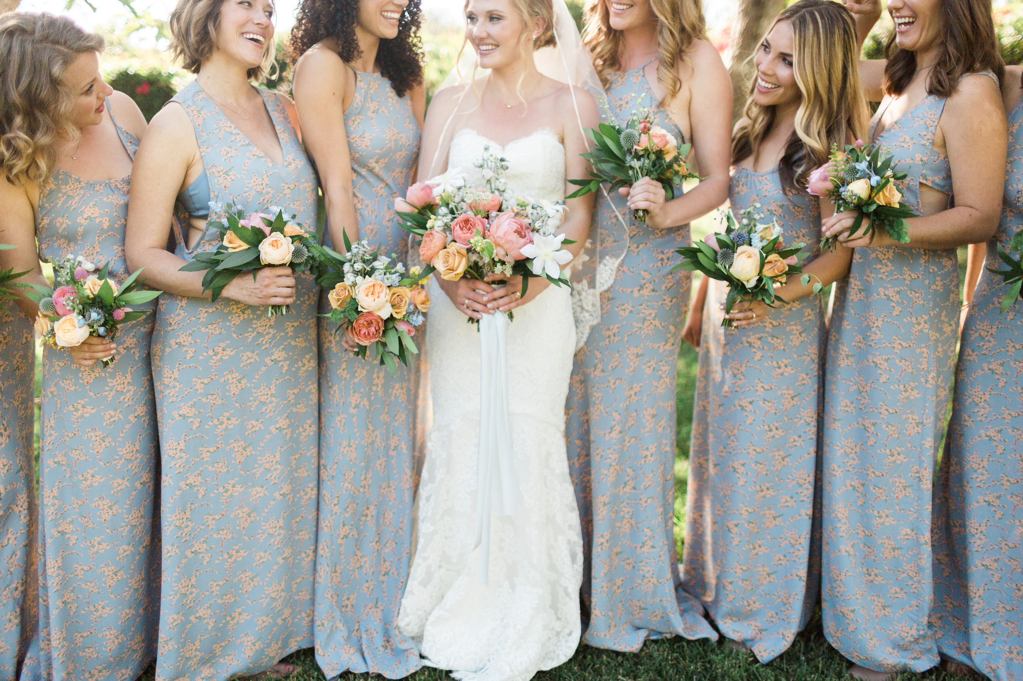 Floral print bridesmaids dresses printed bridesmaid dresses and floral print bridesmaids dresses photography by httpbrooke borough ombrellifo Images