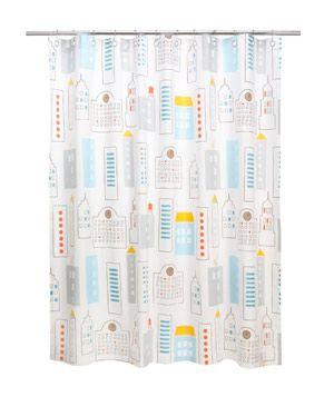Dwell Studio Skyline LT Blue Shower Curtain