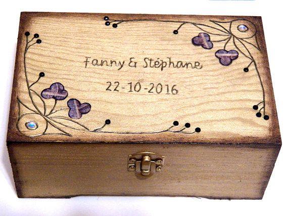 Wedding Box Gift Wooden Por Personalizedbox En Etsy