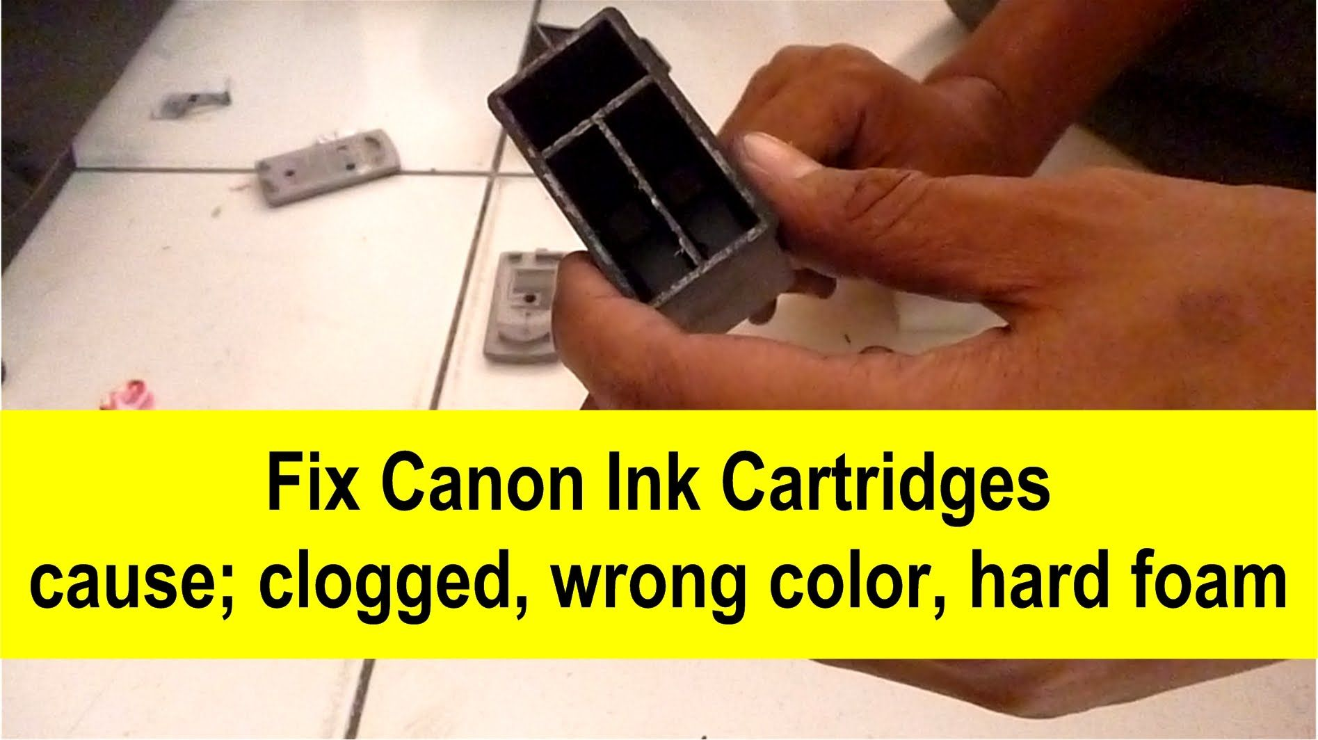 How to Fix Ink Cartridges Ink cartridge, Canon ink