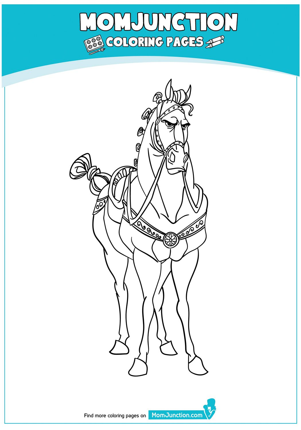 Shire Horse Coloring Pages Design