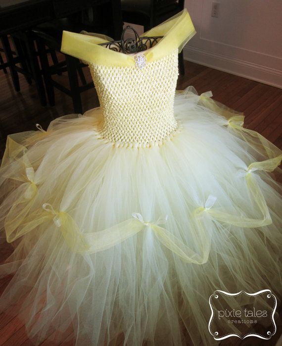 Princess Belle Tutu Dress Beauty and the by PixieTalesCreations
