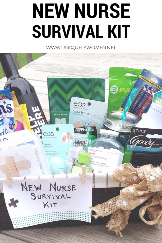 Nurse Graduation Gift DIY Basket Uniquelywomen