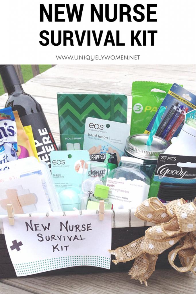 Nurse Graduation Gift DIY Gift Basket www.uniquelywomen.net   DIY ...