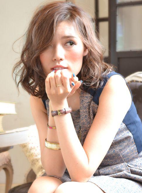 外国人風sweetカールパーマ 【BAROQUE】 http://beautynavi.woman.excite.co.jp/salon/24577?pint ≪外国人風・ミディアム・ヘアスタイル・medium・hairstyle・髪形・髪型≫