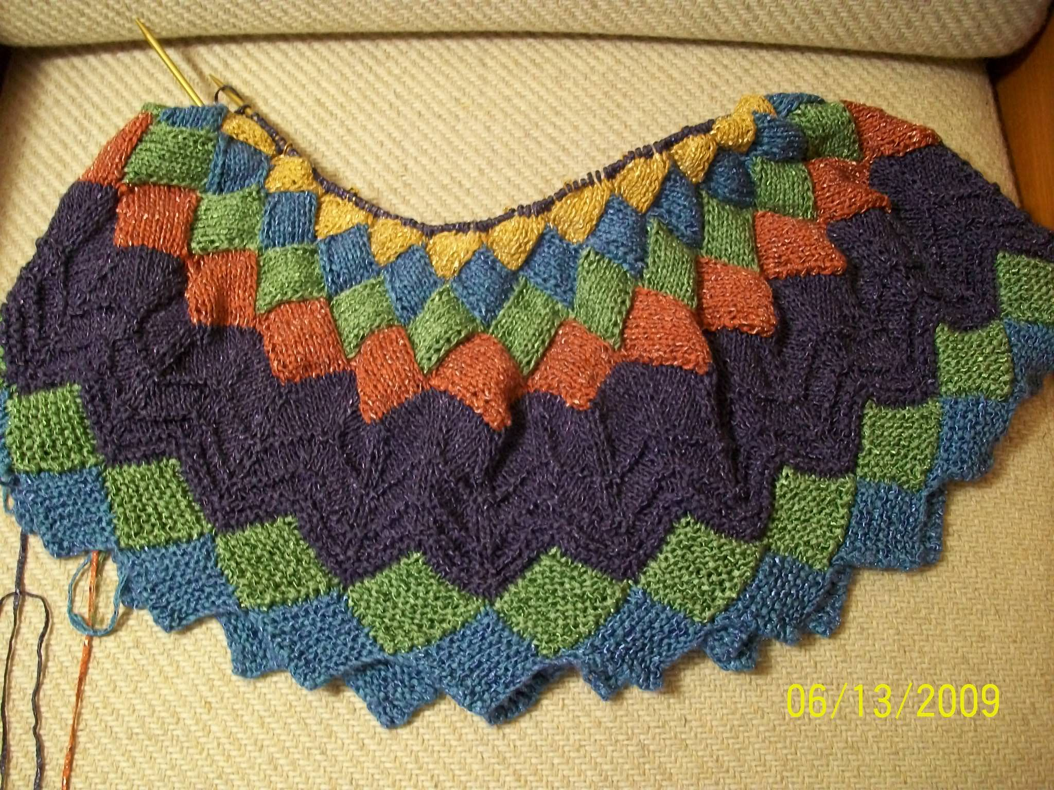 Entrelac+Knitting+Patterns+for+Sweater | entrelac section of the ...