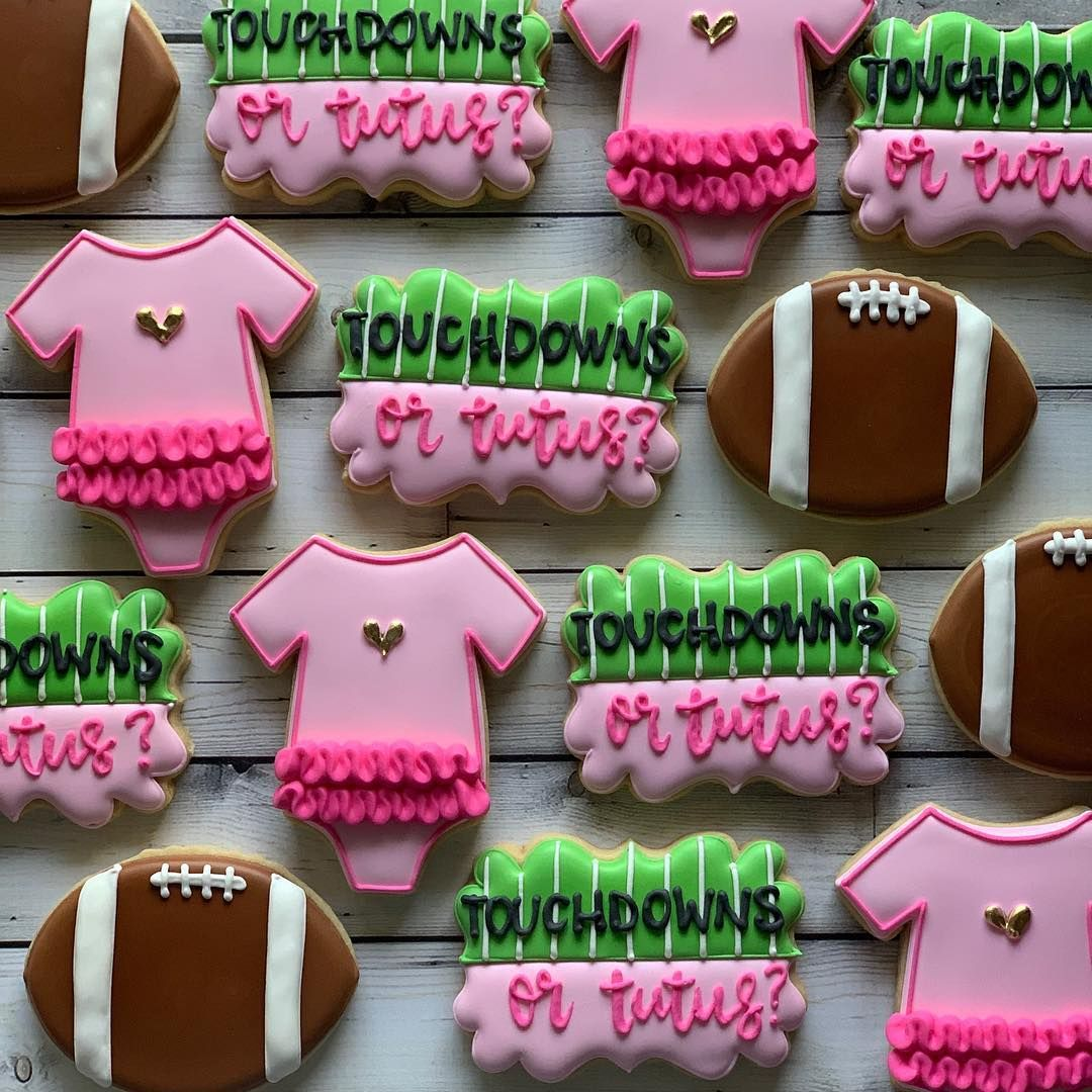 Touchdowns Or Tutus Gender Reveal Party Banner Tutus Gender Reveal Gender Reveal Party Gender Reveal Decorations