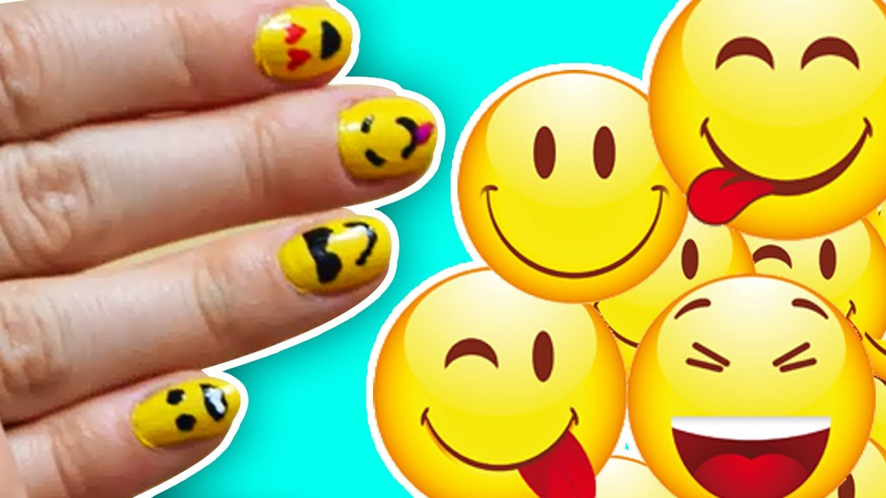 Easy Emoji Nail Art! | DIY Emoji Nails Tutorial | Nail Art Videos to ...