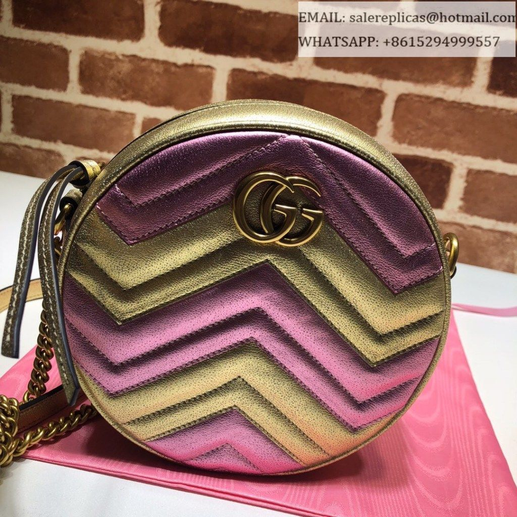 c39c5f91e59 Gucci GG Marmont mini round shoulder bag 550154