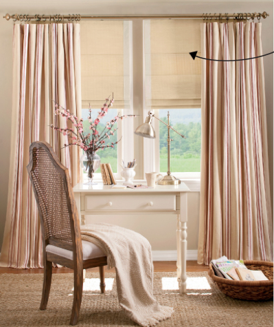 Layered curtains over roman shades layered looks for Curtains that look like roman shades