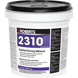 Roberts 1 Gal Resilient Flooring Adhesive For Fiberglass Sheet Goods And Luxury Vinyl Tile 2310 1 Vinyl Tile Adhesive Luxury Vinyl Tile Adhesive Tiles