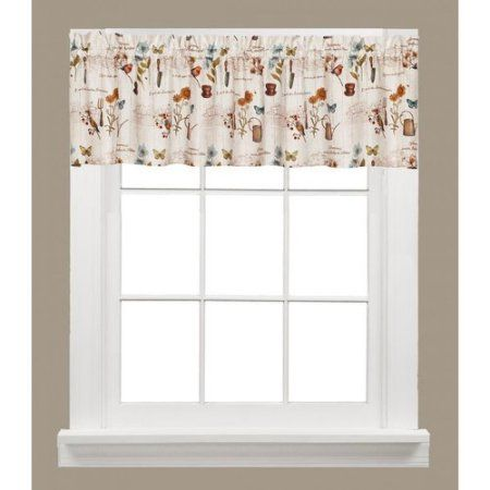 Le Jardin Garden Kitchen Curtain Walmart Com Valance Window Valance Valance Curtains