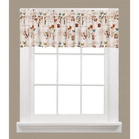 Le Jardin Garden Kitchen Curtain Walmart Com Valance Window Valance Valance Curtains