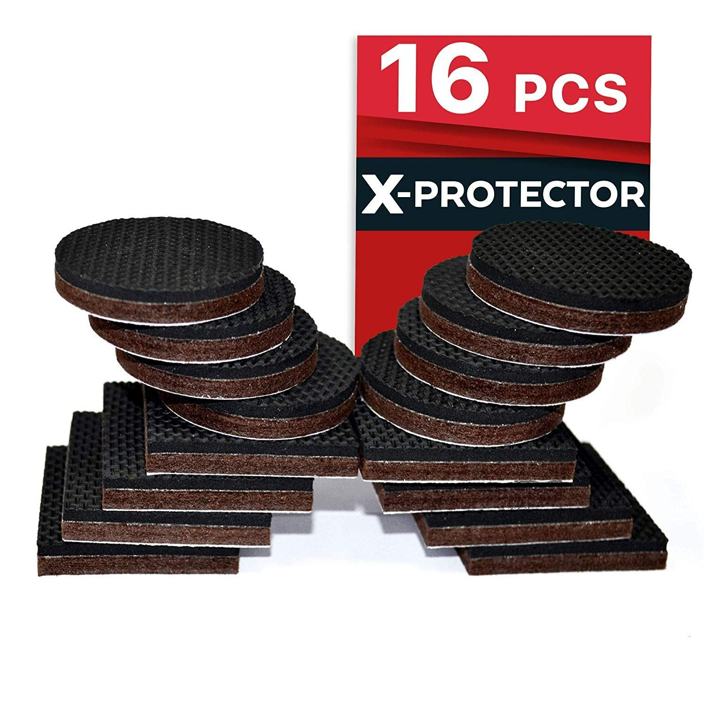 Premium Non Slip Furniture Pads 16 Piece 2a Best Selfadhesive