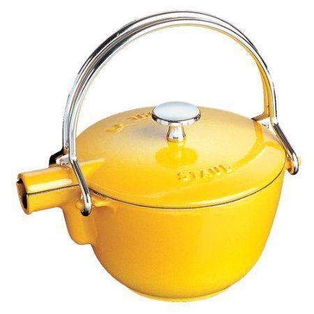 Staub Round 1 Quart Teapot, Lemon