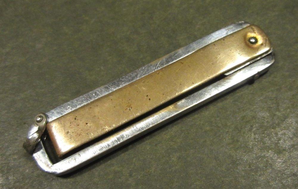 Yankee Usa Funny Folder Tri Fold Trick Copper Siver Vtg