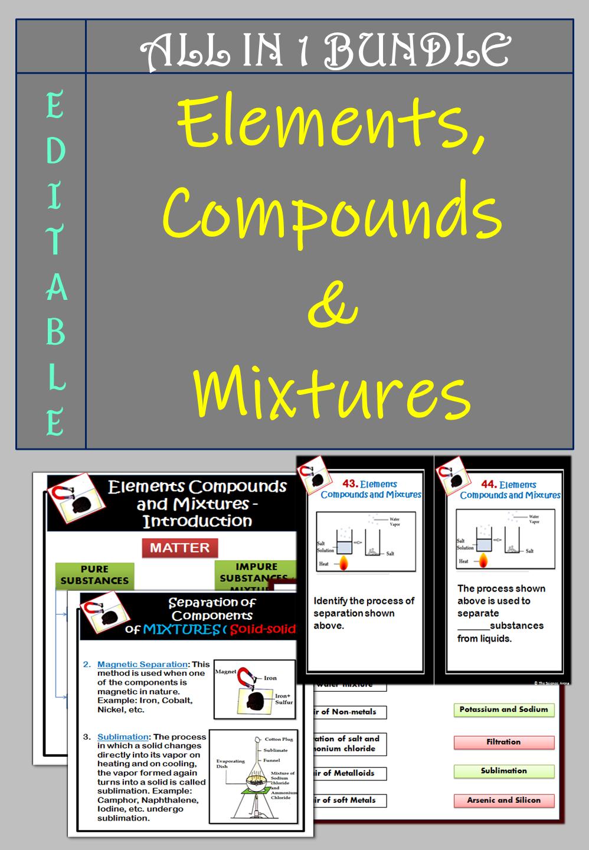 Elements Compounds Mixtures Bundle Google Slidestm Editable Ppt Pdf Compounds And Mixtures Teaching Teaching Resources [ 1440 x 998 Pixel ]