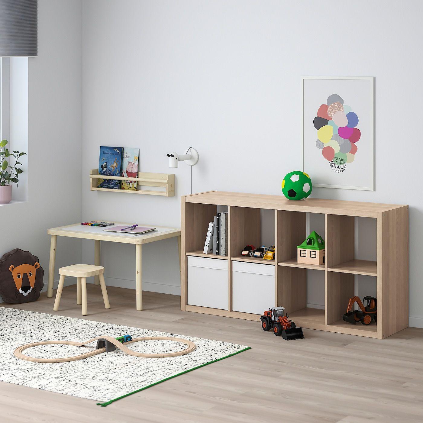 KALLAX Regal mit 10 Einsätzen Eicheneff wlas IKEA Österreich