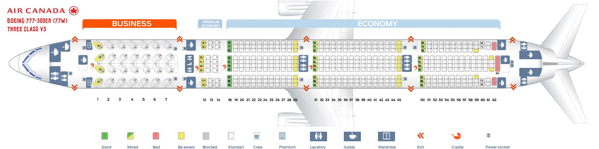 Air Canada Fleet Boeing 777 300er Details And Pictures With