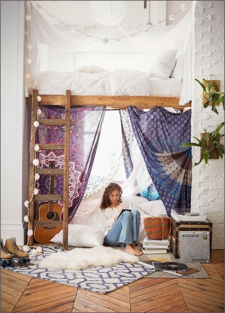 Pinterest Deco Chambre Ado Fille in 19  Diy loft bed, Cool loft