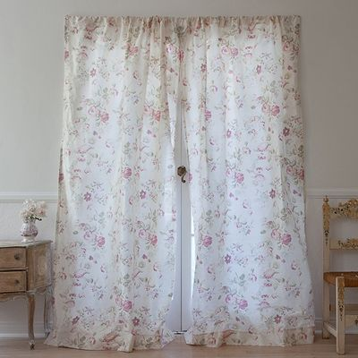 Silk Floral Curtain From Rachel Ashwell Shabby Chic Couture