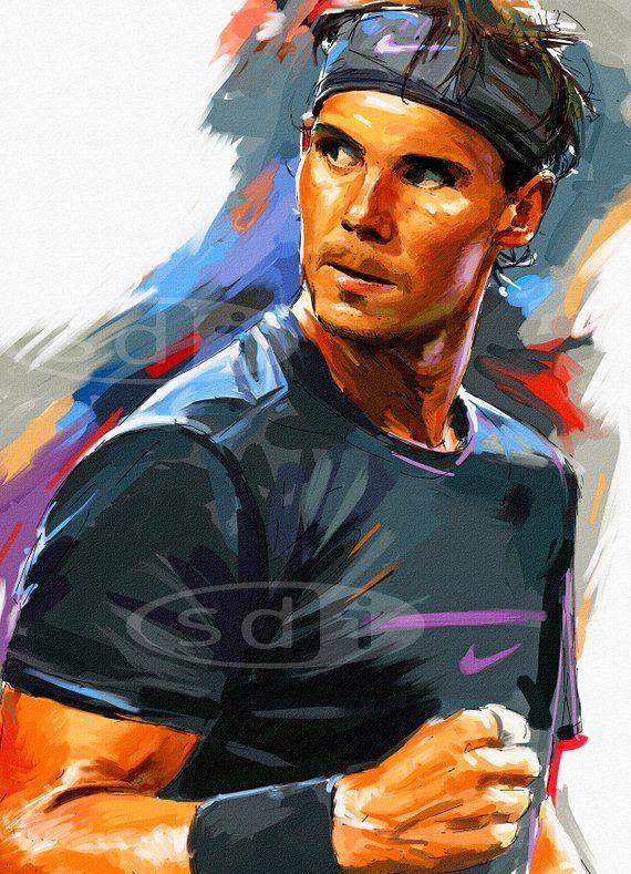 rafael nadal tennis sports art poster