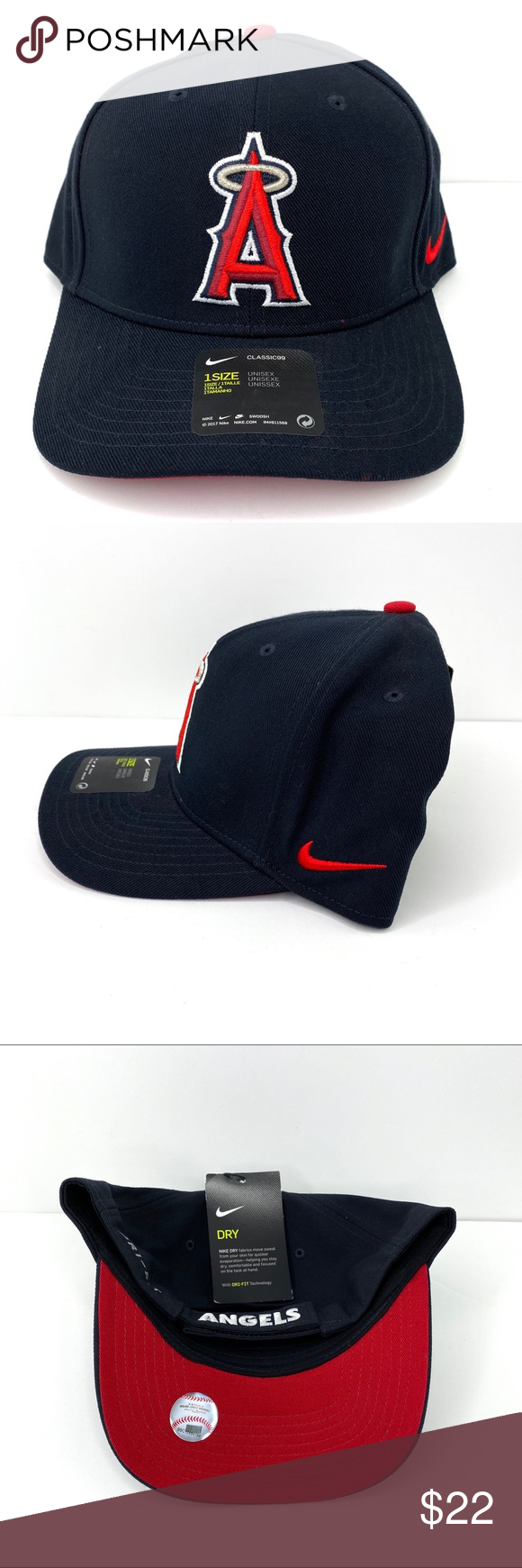 Nike Official Mlb Shop Angels Dri Fit Snapback Nike Accessories Nike Navy Fabric