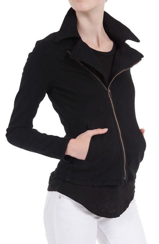 @Goldsign Jeans Martel Moto Jacket $295.00 #bestsellers #denimjacket #black #motojacket #giftideas