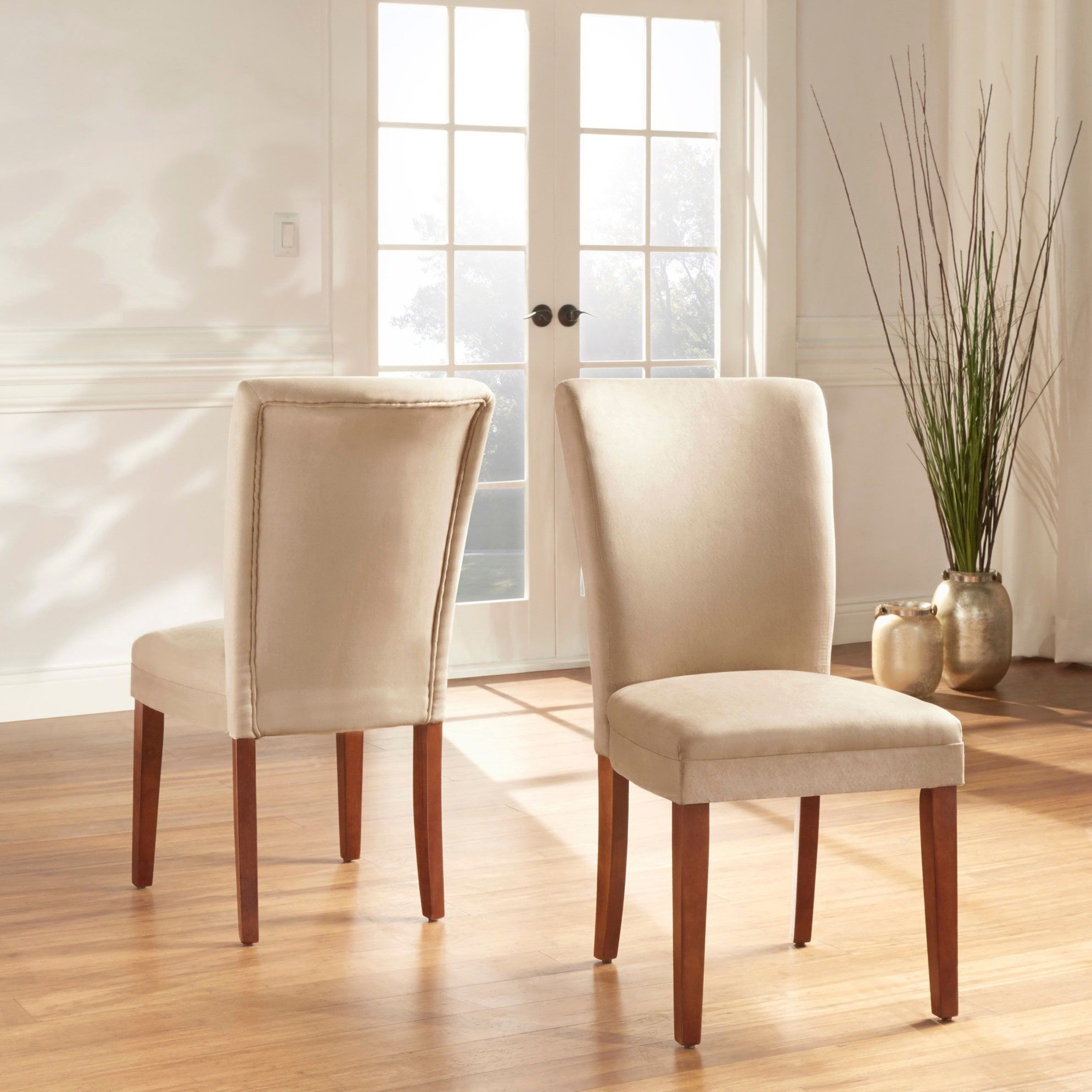 Parson Classic Upholstered Dining Chair (Set of 2) by iNSPIRE Q Bold (Light