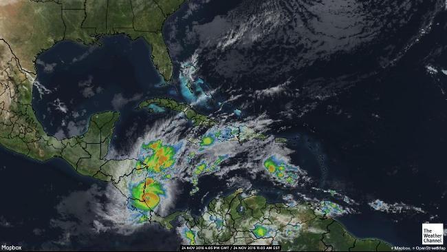 Caribbean Satellite Map Weather Pinterest Satellite Maps