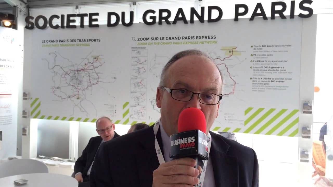 Philippe Yvin, président du directoire de la Société du Grand Paris, présente les opportunités offertes par le Grand Paris lors du Mipim 2014.