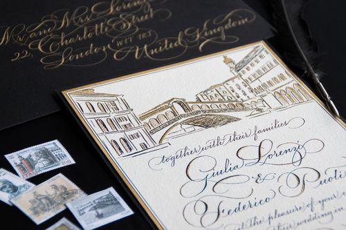 Venetian Wedding Invitation By Joy Fairclough