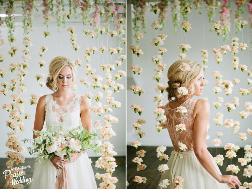 Romantic Carnation Flower Curtain Backdrop