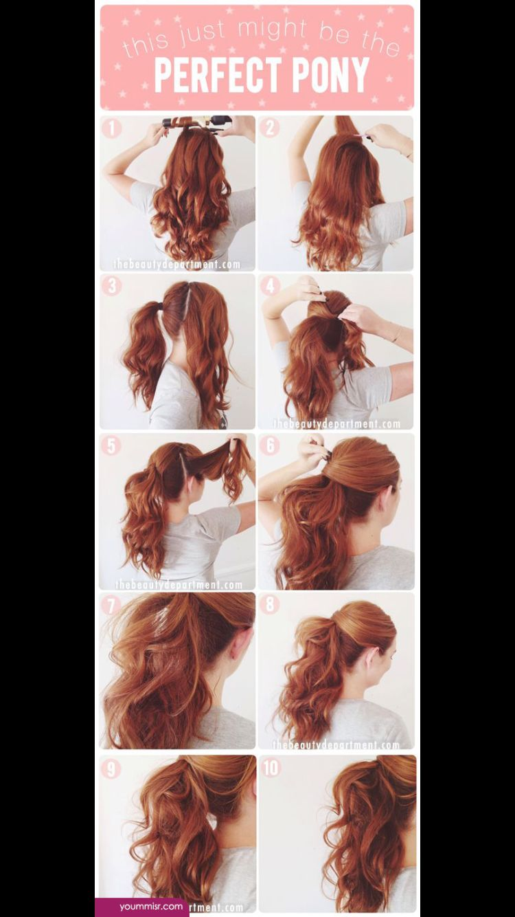A Easy Way To Make A Ponytail Look More Fancy Hair Styles Party Hair Tutorial Long Hair Styles