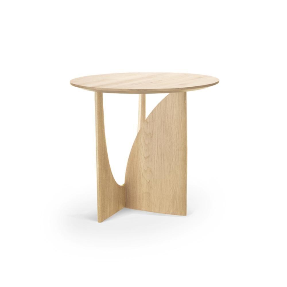 Ethnicraft Oak Geometric Side Table Geometric Side Table Side Table Ethnicraft