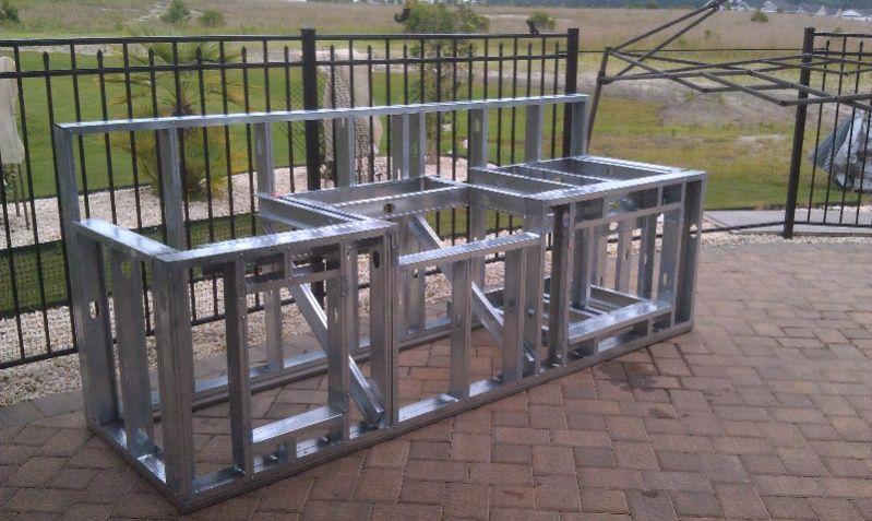 Outdoor Kitchen Steel Frame Kits
