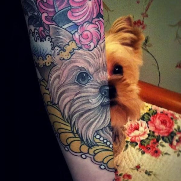 A Huge Collection Of Really Cool Tattoos Dedicated To Dogs Dog Tattoo Animal Tattoos Dog Tattoos