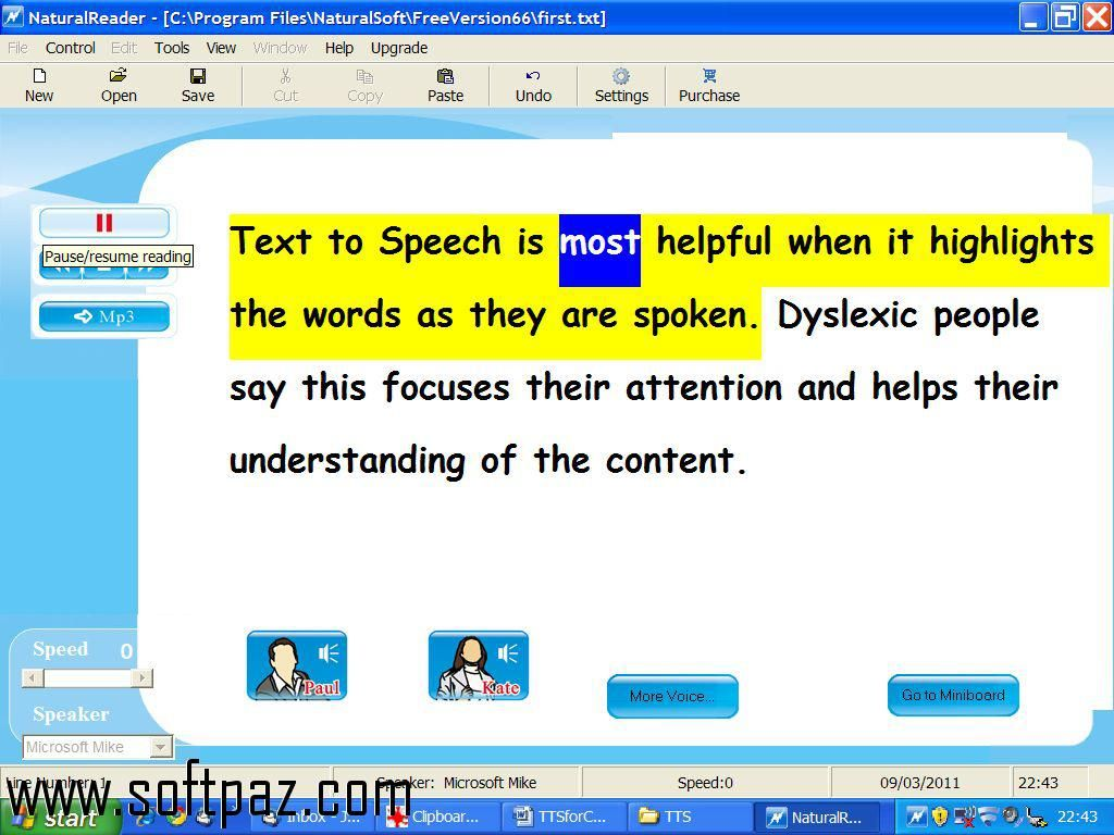 Hi fellow windows user! You can download Word to Sound