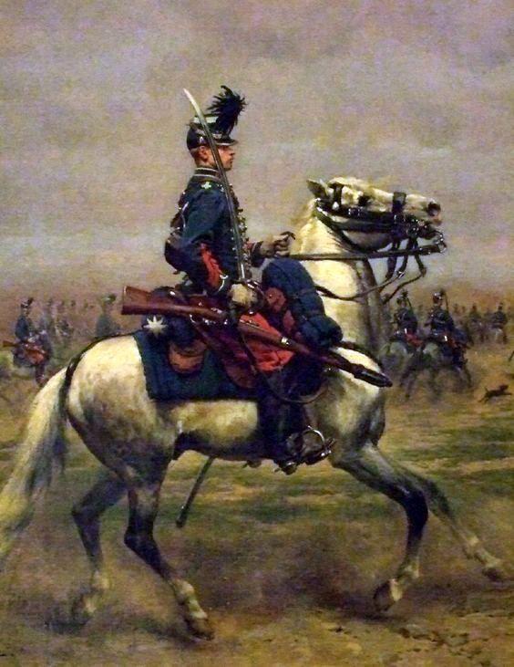 Hussard vers 1890 par Edouard Detaille, premier Président officiel de La Sabretache en 1893.