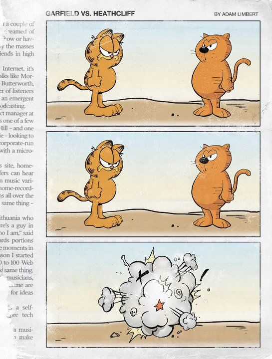 Garfield Vs Heatcliff Quien Ganara Heathcliff Garfield Cartoon Crossovers