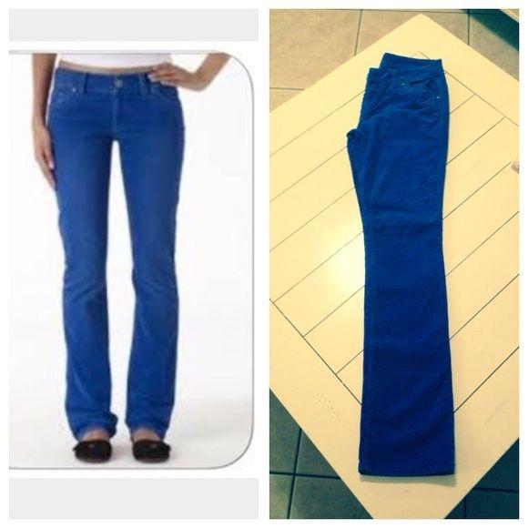 Delias Low Rise Morgan Cords in bold blue Delias Low Rise Morgan Cords in bold blue. Size 3/4. Perfect condition no issues. Delias Pants