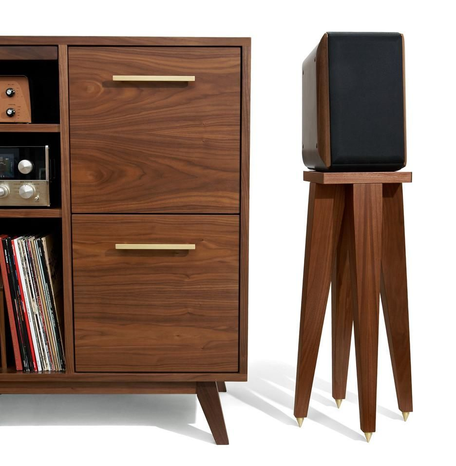Record Cabinet Series Vinyl Record Holder In 2019 Record Cabinet Speaker Stands Vinyl Record Cabinet
