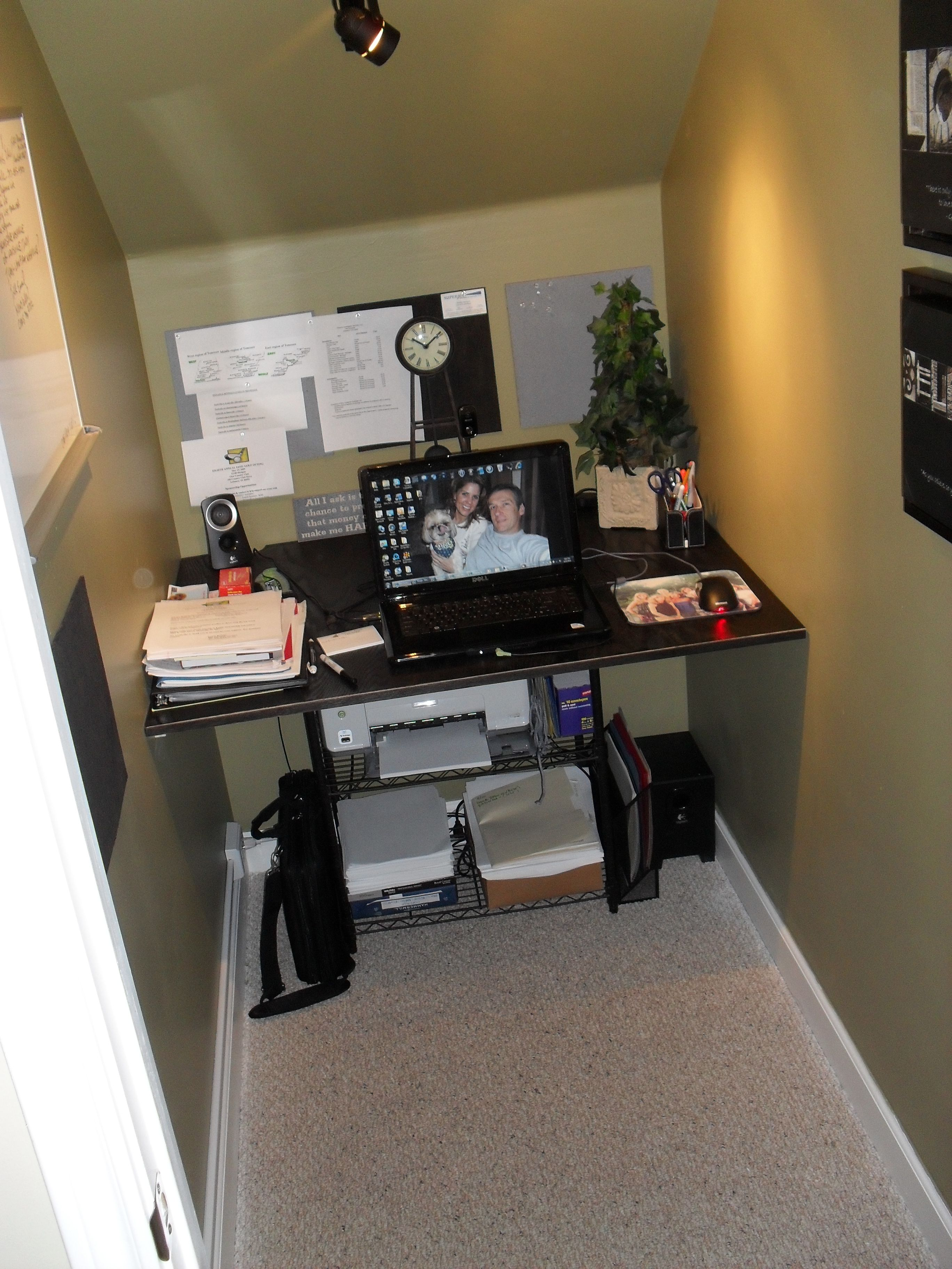 Closet Under Stairs Converted To Office Space Room Under