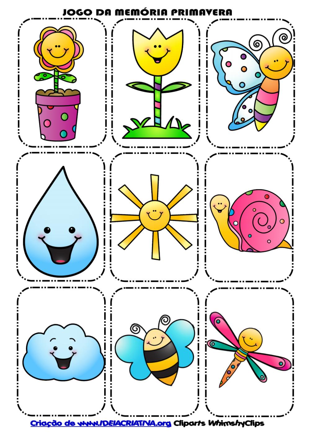 Jogo Memoria Primavera Pdf Google Drive Educacao Infantil Atividades Ludicas Educacao Infantil Dia Da Crianca