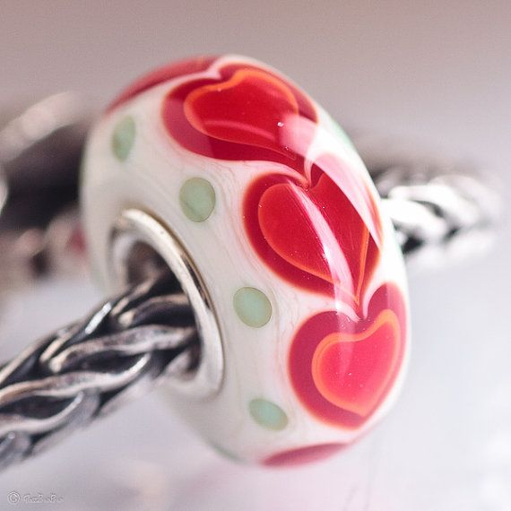GlassBonBon Endless Love SRA Lampwork Bead fits all kinds of european charm bracelets BHB fully cored via Etsy