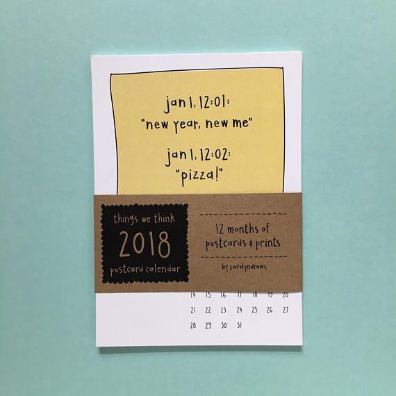 2018 Postcard Calendar • 2018 Wall Calendar • Desk Calendar • Mom ...
