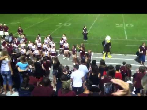 Niceville High School Football Student Crowd Gets Silly W Band